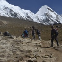 Kalapather, Everest base camp. trek to everest